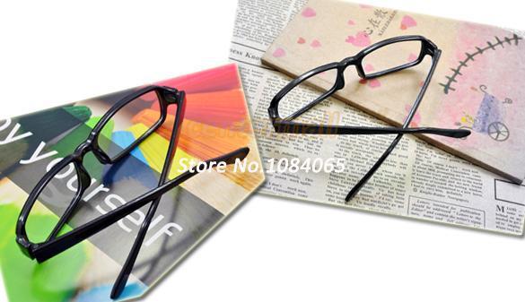 Fashion Mens Women Unisex Frame Glass DJ Clear Lens Nerd Skater Polite Glasses Black 692