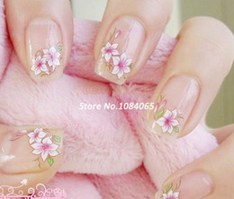 Wholesale Nail Art Water Decals Halloween - 2014 10 Sheet Mix Flower 3D Nail Art Sticker Flowers Decal Water Temporary Tattoos Watermark 4511 b003