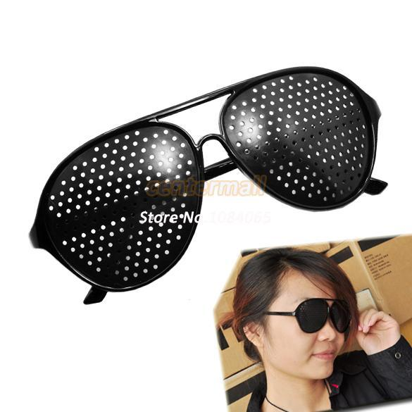 2014 New Fashion Vision Care Pinhole Spectacles Astigmatism Eyesight Improve Eyes Glasses Eyewear 686