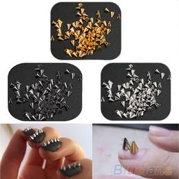 Wholesale Metal Diy Punk - 200Pcs Fashion nail accessory Metal Punk Metallic Cone Spikes Nail Art Tip Decoration Rivet DIY