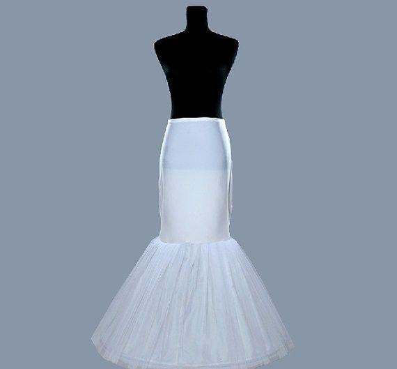 Neueste Kostenloser Versand Hochzeit Meerjungfrau Petticoats / Slip 1 Hoop Bone Elastic Kleider Krinoline Trompete Brautaccessoires Mode
