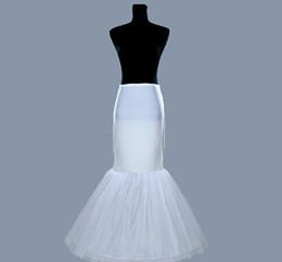 Mermaid Wedding Dress Slips Canada - Latest Free Shipping Wedding Mermaid Petticoats Slip 1 Hoop Bone Elastic Dresses Crinoline Trumpet Bridal Accessories Fashion