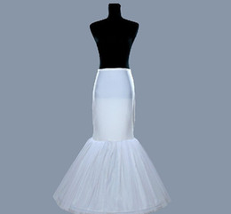 Wholesale Mermaid Crinoline Petticoat - Latest Free Shipping Wedding Mermaid Petticoats Slip 1 Hoop Bone Elastic Dresses Crinoline Trumpet Bridal Accessories W20140073 Fashion
