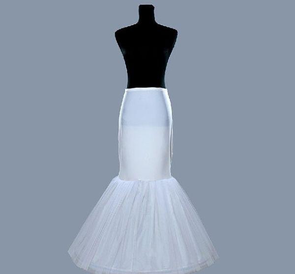 Mais recente Frete Grátis Sereia Do Casamento Saia / Slip 1 Hoop Osso Elastic Vestidos Crinolina Trompete Acessórios De Moda De Noiva