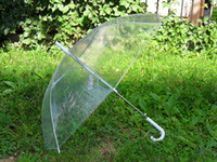 Clear Transparent Umbrella Vedere attraverso la moda Star Long Maniglia Ombrelli Beach Wedding Grazioso Colorful Transparent Hot