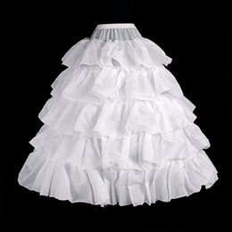 Wholesale Brides Underskirt - 2014 Hot sale 4 Hoops Bridal Petticoats For Ball Gown Wedding Dress Crinoline Ruffles Underskirt White Wedding Accessories For Bride