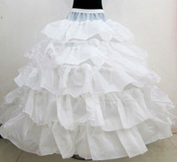 Wholesale Brides Underskirt - New Hot Sales 4 Hoops Bridal Petticoats For Ball Gown Wedding Dress Cascading Ruffles Fabric Underskirt White Wedding Accessories For Bride