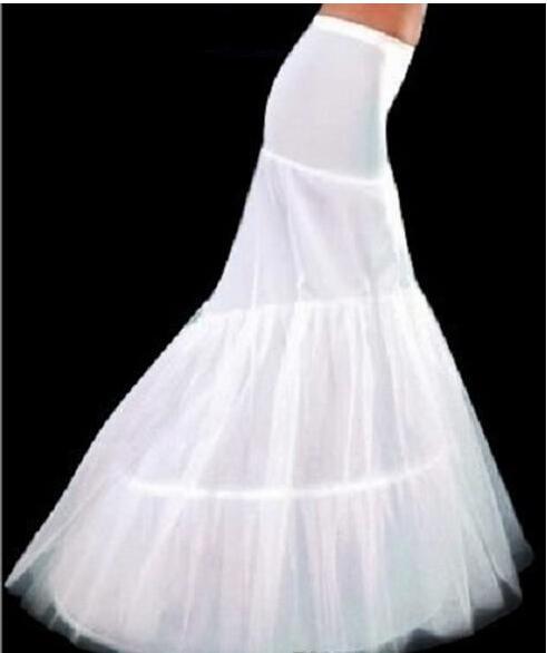Лучшие продажи! Бесплатная доставка 2019 белая русалка нижняя юбка свадебная кринолин нижняя юбка для свадебных платьев свадебные аксессуары