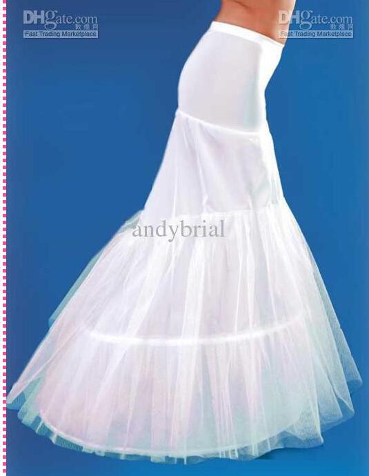 Bästsäljare! Gratis frakt 2019 Vit Mermaid Petticoats Bridal Crinoline Underskirt för bröllopsklänningar Brudtillbehör