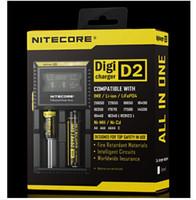 paquet de batterie li ion achat en gros de-NITECORE D2 Nouveau I2 LCD Digicharger Universal Intelligent Charger + Retail Package avec Câble Pour 18650 18350 16340 14500 Li-ionNi-MH batterie