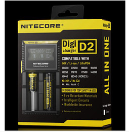 $enCountryForm.capitalKeyWord Canada - NITECORE D2 New I2 LCD Digicharger Universal Intelligent Charger +Retail Package with Cable For 18650 18350 16340 14500 Li-ion&Ni-MH battery
