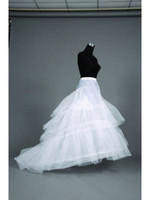 Wholesale Train Fashion Accessories - 2015 New Free Shipping Fashion White 3 Hoop Petticoats Crinoline Underskirt Bridal Wedding Accessories Dresses Hot Sale Chapel Court Train
