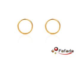 Wholesale Nose Jewellery - Wholesale-OP-16 Gauge 16G Segment Hoop Lip Eyebrow Piercing Jewellery Titanium Gold Nose Ring