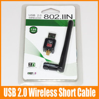 Wholesale External Wireless Antenna Cable - Mini Wireless Card Long Cables 150Mbps 11N USB2.0 Wireless 802.IIN Wifi External Antenna 537B