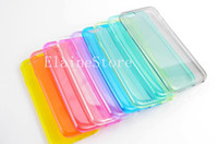 Wholesale iphone6 transparent case online - Ultra Thin Clear CASE For IPHONE6 Colorful PC Protector Cover Case For Iphone6 Iphone6