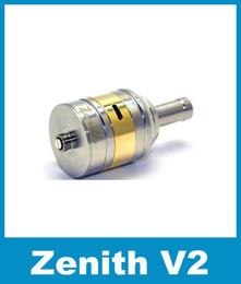 Wholesale v2 clearomizer - Rebuildable Zenith V2 RDA Atomizer Vaporizer Clearomizer Zenith V2 RDA Atomizer Stainless Steel Huge Vapor Vaporizer 28.5mm ATB079