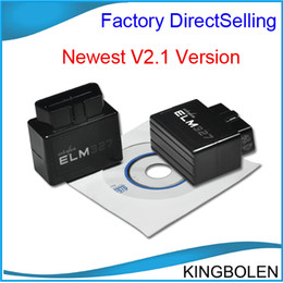 Wholesale Obd Ii Bluetooth Support - Free Shipping Black Super mini ELM327 Bluetooth OBDII OBD2 V2.1 Auto Code Scanner elm 327 For Multi-brands CAN-BUS Supports All OBD-II Model