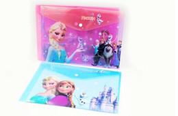 Wholesale A4 Paper Folder - 2014 new FROZEN Romance snow treasure adventure Snow Queen file bags A4 paper folder frozenC57 24 pcs