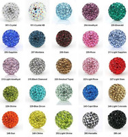 Wholesale Pink Cz Necklaces - 150pcs lot 10mm mixed white color Micro Pave CZ Disco Crystal Shamballa Bead Bracelet Necklace Beads.Hot beads Lot!Rhinestone DIY spacer