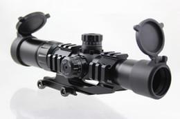 visão docter Desconto Aimsports Scope 1.5-4X30 Tri-Iluminado Mil Dot Retículo ou Flecha ou 3/4 de Âmbito de Círculo com Torres de Travamento