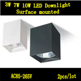 Surface Clothes Canada - No anti-fog surface mounted downlights square, 5W7W10W LED downlights, clothing,exhibition,decorative lighting ceiling Down Light