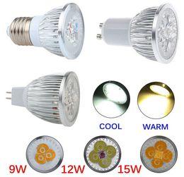 3x3w dimmable mr16 led birnen Rabatt 9W 12W 15W Dimmable LED Birnen-Licht GU10 / MR16 / E27 / E14 / B22 LED Scheinwerfer CREE LED beleuchtet energiesparende Birne 3x3W LED Glühlampe