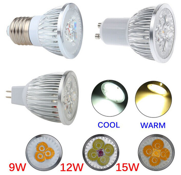 9W 12W 15W Dimmable LED Bulb Light GU10/MR16/E27/E14/B22 LED Spotlights CREE LED Lights 3x3W Energy-saving Bulb Led Light Bulb