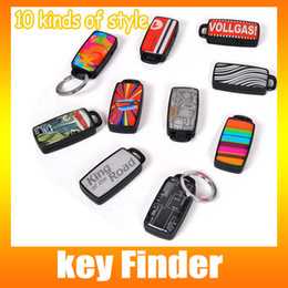 Wholesale Wireless Electronic Key Locator - Key Finder Alarm Whistle Wireless Key LOST Locator Finder Receiver Electronic Key Finder Hot sale key including retail packaging