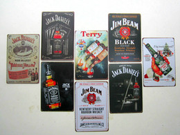 Wholesale Metal Signs Wholesale - hot new fashion 20*30cm jack beer billboard Tin Sign Coffee Shop Bar Restaurant Wall Art decoration Bar Metal Paintings Tin Sign