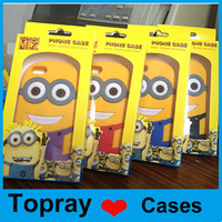 Wholesale Despicable Case Cover 3d - For iPhone 6 Despicable me yellow man minions cute 3D cartoon soft silicone Case cover For iphone 5 5s Samsung with retail package