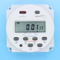 interruptores 16a al por mayor-Al por mayor-OP-DC 12V Digital LCD Poder programable temporizador Interruptor de tiempo Relé 16A