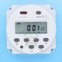 ingrosso interruttore digitale temporizzatore lcd-All'ingrosso-OP-DC 12V Digital LCD Power Timer programmabile Relè 16A