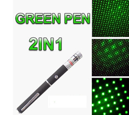 Wholesale Laser Green Pointer Battery - 2in1 Star green Laser Pointer Pen 5mW 532nm AAA Battery With Star Cap For Pet Toys Gift [Black]