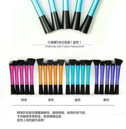 Wholesale Shop Kits - Free shopping Professional Powder Blush Brush Facial Care Facial Beauty Cosmetic Stipple Foundation Brush Makeup Tool 5pcs set 50sets lot