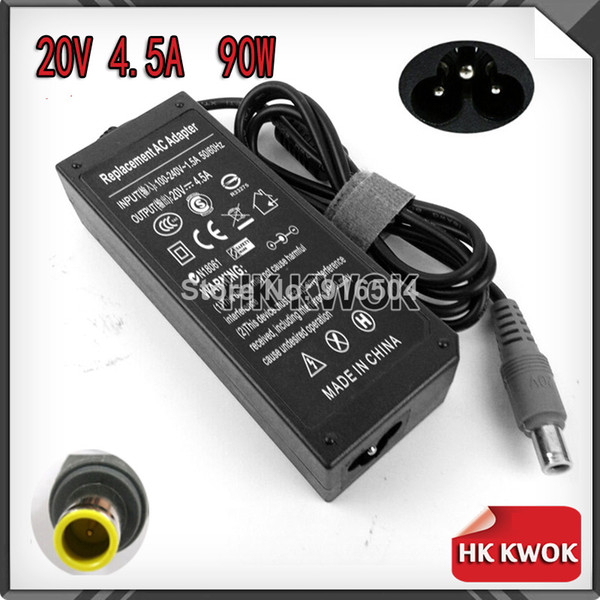 Wholesale-OP-2014 Wholesale 20V 4.5A 90W 8mm*5.5mm AC Power Laptop Adapter Charger For Lenovo IBM Thinkpad T60 T61 X60 X61 T410 Free Shippin