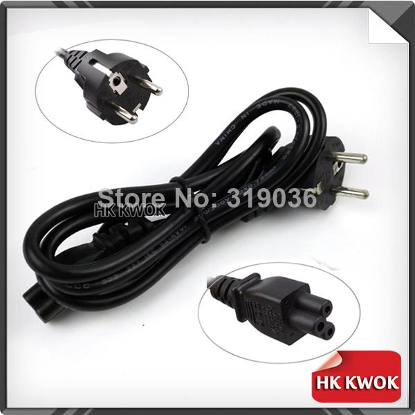Wholesale-OP-New 2014 Standard EU 3-Prong Laptop AC Adapter Power Cord Cable Lead 3 Pin EU Plug High Quality With Free Shipping