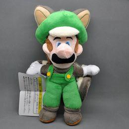 "Wholesale Mario Stuff - Free Shipping New Super Mario Bros 9"" Musasabi Flying Squirrel Luigi Plush Soft Stuffed Toy Doll"