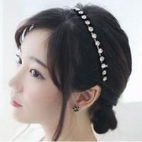 Wholesale Head Hair Necklaces - New fashion rhinestone crystal winding Alloy chain hair band for lady necklace hair head dress accessory free shipping #70266