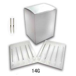 Wholesale Piercing Needles 14g - Wholesale-OP-100 X Sterile Tattoo Body Piercing Needles SZ 14G PN106