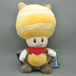 """Wholesale Super Mario Plush Sanei - Free Shipping New Super Mario 8"""" Plush Sanei Doll - Yellow Squirrel Toad   Kinopio #1 New Gift"""