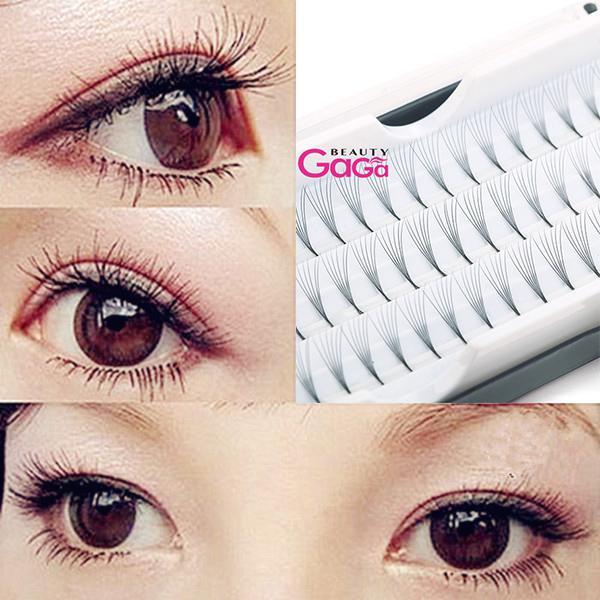 BeautyGaGa Supply (6set/lot) 8/10/12mm Planting Eye Lashes Extension Beauty Makeup Individual False Eyelash With Plastic Box Packing
