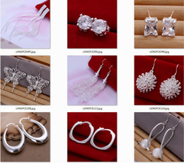 Wholesale Sterling Silver Drop Earings - 5pairs Lot mixed wholesale 925 Sterling Silver Jewelry drop Earings 2013 Brand New free shipping
