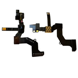 Wholesale Iphone Front Cam - 5G Proximity Sensor Light Motion Flex Cable & Front Face Camera Cam for Iphone 5 5G 5C 5S Free Shipping