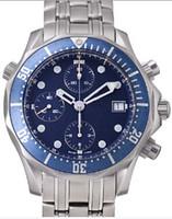 наручные часы купить оптовых-Рождественский подарок мужской автомат из нержавеющей стали Mechanica застежка синее лицо сапфировое стекло наручные часы
