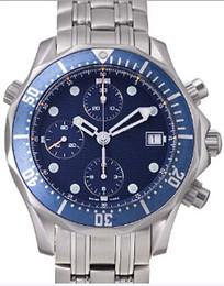 Geschenke für männer online-Weihnachtsgeschenk Männer Automatik Edelstahl Mechanica Verschluss blau Gesicht Saphirglas Armbanduhren