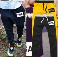 ropa nueva hba al por mayor-Envío gratis nueva venta 7 colores Pantalones deportivos ropa de calle HBA Marea tarjeta Harajuku pantalones deportivos impresos pantalones hiphop