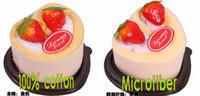 favores de la toalla al por mayor-2015 nuevos favores de cumpleaños de la boda Boutique corazón toalla de la torta de fresa toalla de la torta 20 * 20 cm Square Toalla de la torta romántico regalo de San Valentín