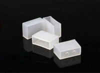 Wholesale Silicon End Caps - 100pcs lot 5050 strip end cap 10mm for LED Silicon end cap for 5050 Led Strips end cap flexible 5630 LED strip plug