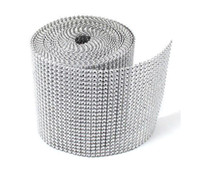 Wholesale Candles Ribbon - 90feet 24Rows Diamond Mesh Rhinestone Ribbon Crystal trim Wrap cake candle banding For Wedding Decoration Party Decor wa040