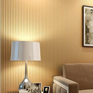 Luxury Vertical Stripe Modern Wallpaper Glitter Gold Printed Metallic Striped Pvc Wall Paper Living Room Covering Hd Widescreen Wallpapers